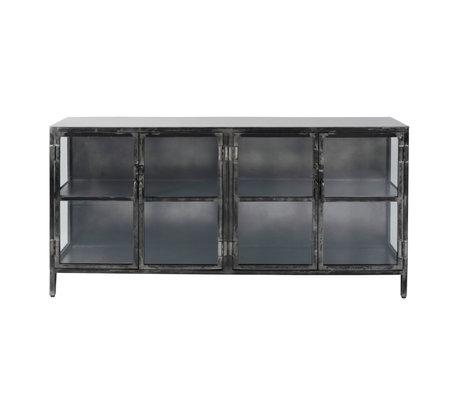 Wonenmetlef Buffet Bobbie en métal noir 180x40x92cm