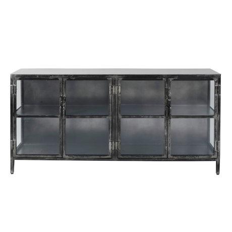 Wonenmetlef Sideboard Bobbie black metal 180x40x92cm