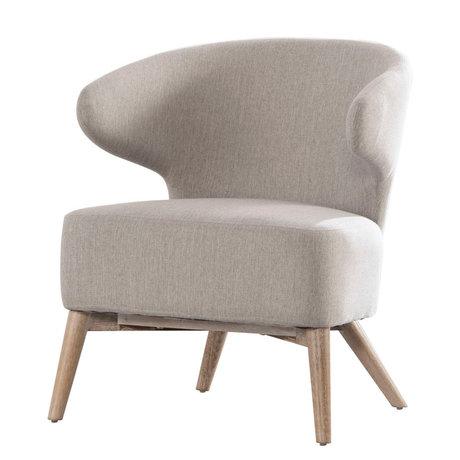 Wonenmetlef Fauteuil Saint Valentin ton gris bois naturel marron textile bois 62x64,5x73cm