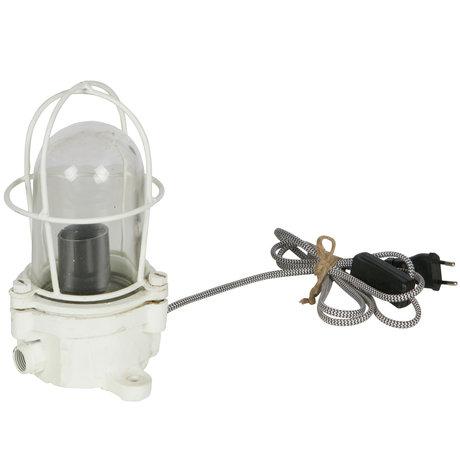BePureHome Tischlampe Licht Schiff weißes Metall 24x15x15cm