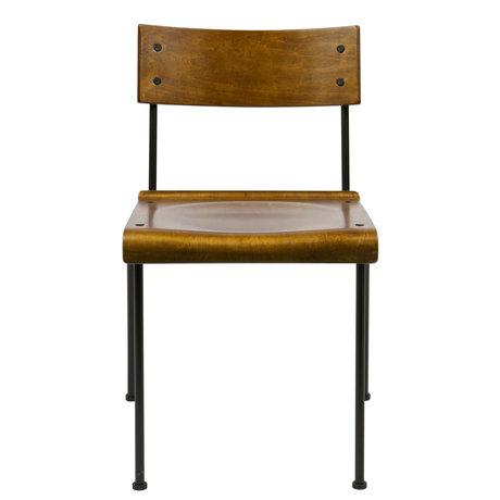 vtwonen Stuhl Teach braun Holz Metall 49x48,5x101,5cm