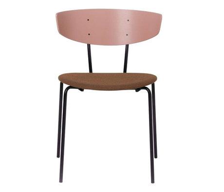 Ferm Living Cena de la silla tapizada 50x74x47cm Herman palo de rosa del metal de textiles