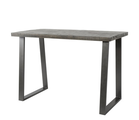 Wonenmetlef Bar table Jace clay brown black wood steel 135x70x92cm