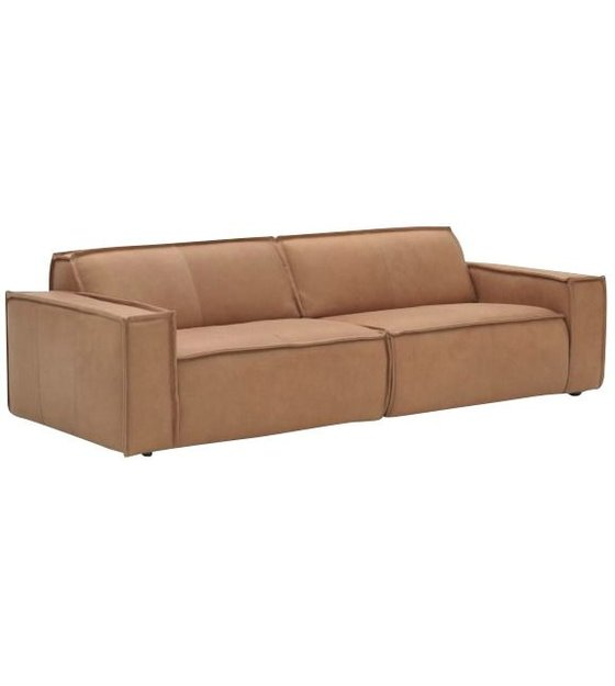 Remarkable Fest Leather Sofa Edge 3 Seater Brown Download Free Architecture Designs Intelgarnamadebymaigaardcom