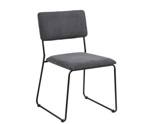 Wonenmetlef Dining chair Jill anthracite gray 96 Malmö Textil metal 50x53,5x80cm