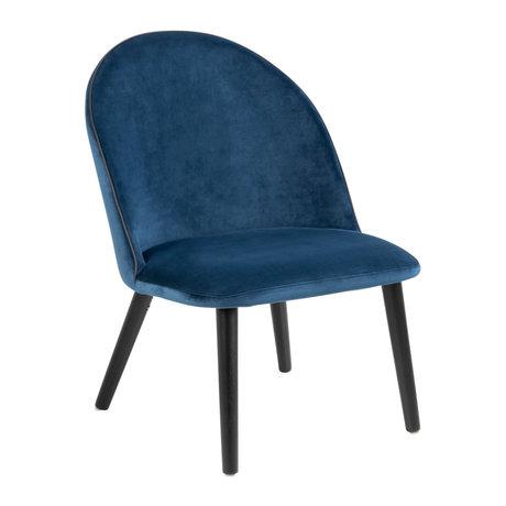 Wonenmetlef Sessel Lou marineblau 66 VIC Textilmetall 60x70x81cm