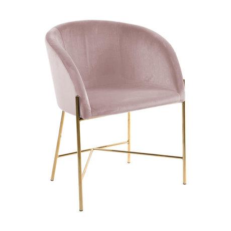 mister FRENKIE Sedia da pranzo Manny polveroso oro rosa VIC metallo metallo 56x54x76cm