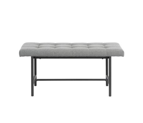 Wonenmetlef Bank Floortje gris clair noir Spy textile en acier 100x37x46,5cm