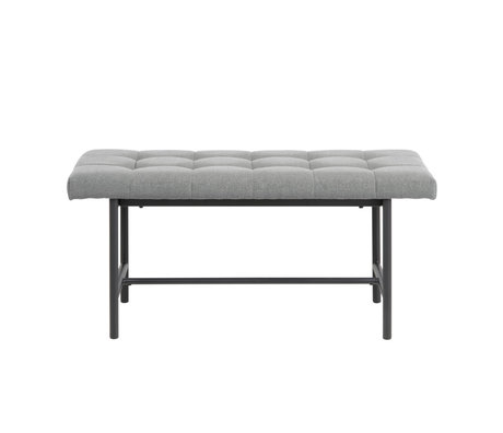 Wonenmetlef Bank Floortje light gray black Spy textile steel 100x37x46,5cm