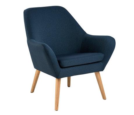 Wonenmetlef Poltroncina Julian blu scuro in tessuto tessile legno 76x74x84,5cm