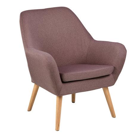 Wonenmetlef Armchair Julian dusty pink Town textile wood 76x74x84,5cm