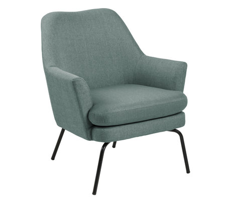 Wonenmetlef Armchair Moses dusty green Corsica textile metal 74x73x83cm
