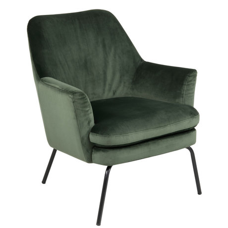 Wonenmetlef Armchair Moses forest green VIC textile metal 74x73x83cm