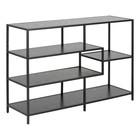 mister FRENKIE Table d'appoint Levi en bois noir métal 3 étagères 114x35x78cm