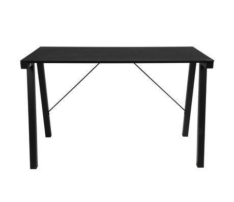 Wonenmetlef Desk Ray in metallo nero lucido 125x65x77,5cm