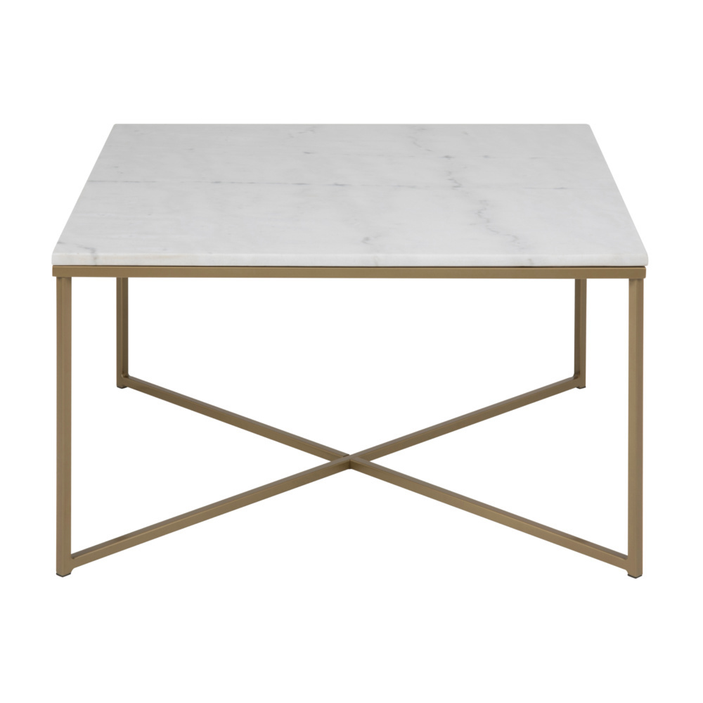 FRENKIE mister marbre métal doré rose 80x80x46cm Table basse blanc LMpzGqSUV
