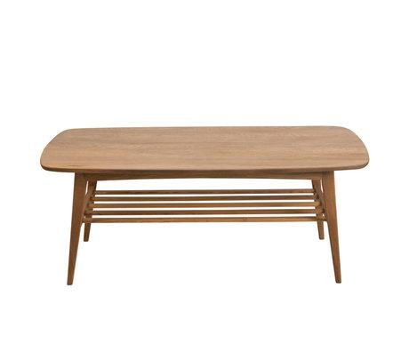 Wonenmetlef Tavolino Jolie in legno naturale marrone 120x60x47cm