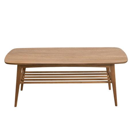Wonenmetlef Mesa de centro Jolie madera marrón natural 120x60x47cm