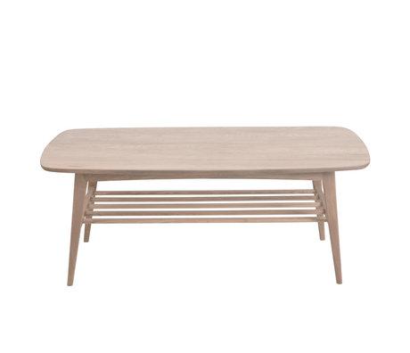 Wonenmetlef Couchtisch Jolie braun mit Weißpigment Holz 120x60x47cm