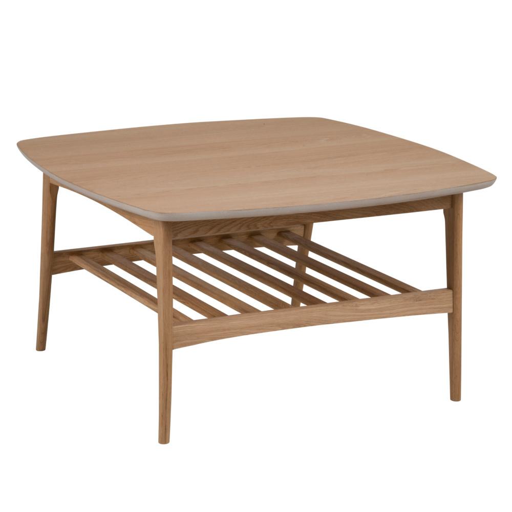 Tavolo Legno Rovere Naturale.Wonenmetlef Tavolino Jolie In Legno Naturale Marrone 80x80x45cm