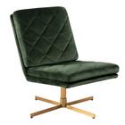mister FRENKIE Sessel Lynn Wald Grün Gold VIC Textil Metall 60x79x87cm