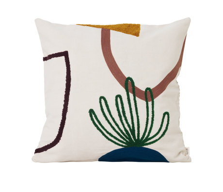 Ferm Living Throw pillow Mirage Island multicolour textile 50x50cm