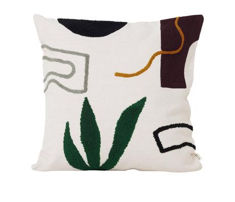 Ferm Living Coussin Mirage Cacti Multicolore Textile 50x50cm