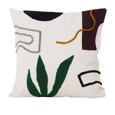 Ferm Living Kissen Mirage Cacti Multicolor Textil 50x50cm