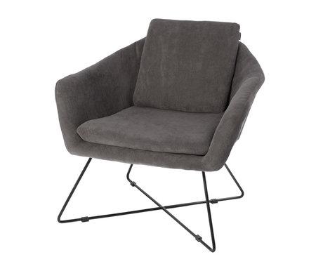 Riverdale Sillón Ridge textil gris 82cm