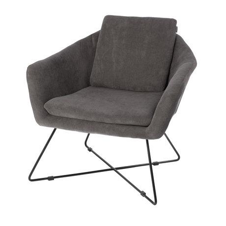 Riverdale Armchair Ridge gray textile 82cm