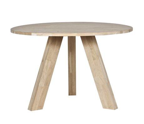 LEF collections Rhonda chêne brut table à manger ø129x77cm