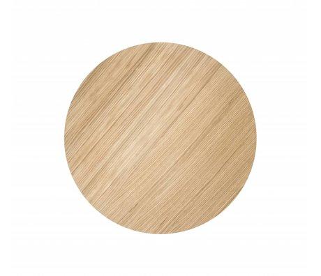 Ferm Living Holzplatte für Metall-Korb, geölte Eichenfurnier, Ø40cm