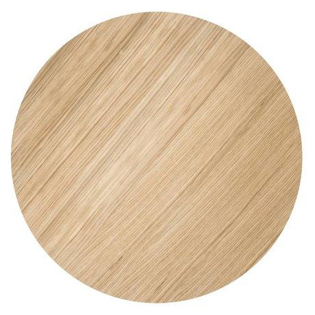 Ferm Living Holzplatte für Metall-Korb, geölte Eichenfurnier, Ø50cm