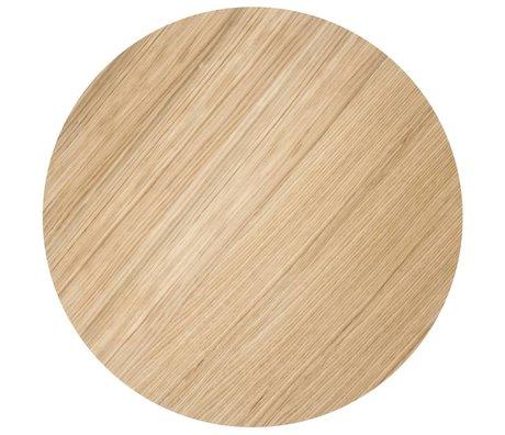 Ferm Living Sheet metal basket Ø60cm oiled oak veneer