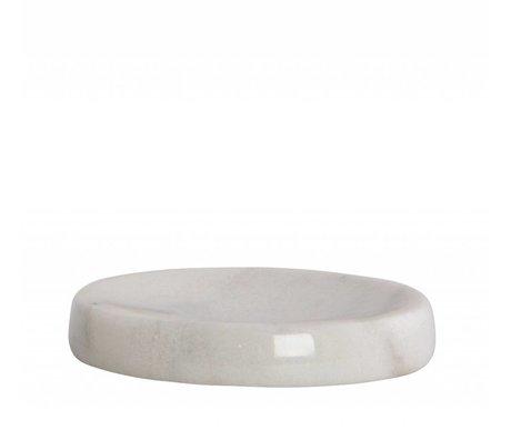 Housedoctor Seifenschale aus Marmor, grau, Ø12x2cm