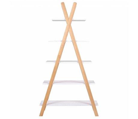 LEF collections Tipi pin blanc bibliothèque 39x85x177cm