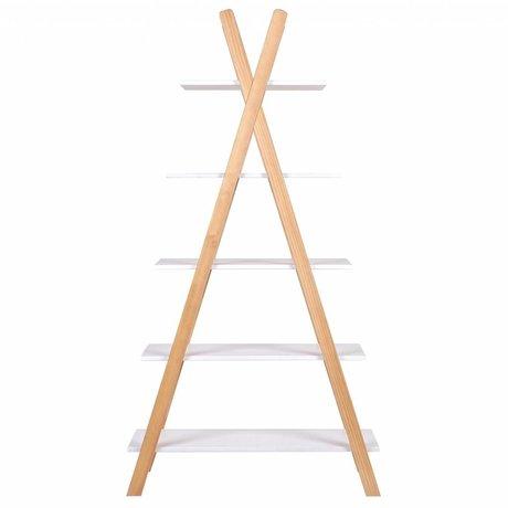 LEF collections Tipi blanco estantería de pino 39x85x177cm