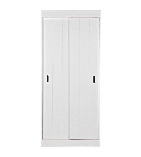Scaffali armadio Row con ante scorrevoli bianco 85x44x195cm pino