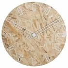 Zuiver OSB panneaux de particules horloge avec des mains blanches Ø50x4,5cm