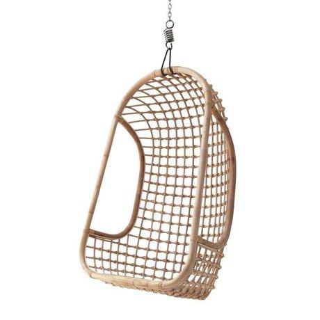 HK-living Hanging sedia fatta di rattan, la natura brillante, 55x72x110cm