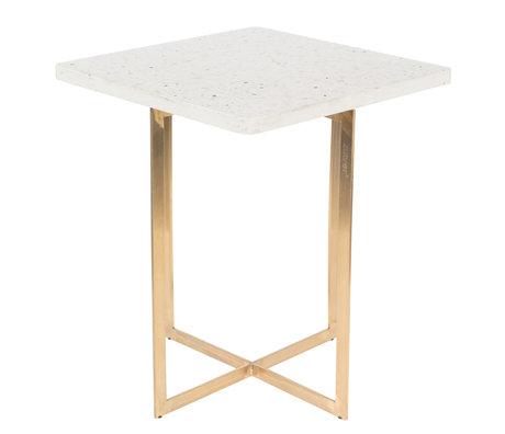 Zuiver Side table Luigi Square white terrazo iron 40x40x45 cm