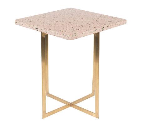 Zuiver Side table Luigi Square pink terrazo iron 40x40x45 cm
