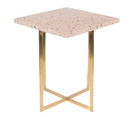 Zuiver Table d'appoint Luigi Square terrazo rose rose 40x40x45 cm
