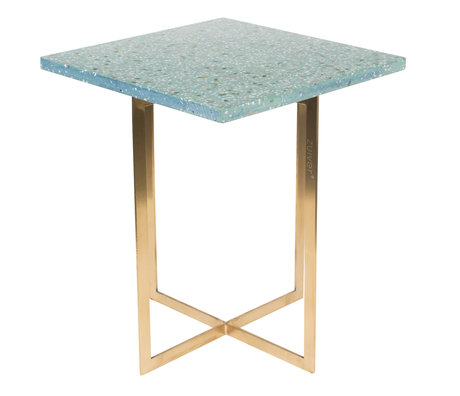 Zuiver Side table Luigi Square green terrazo iron 40x40x45 cm