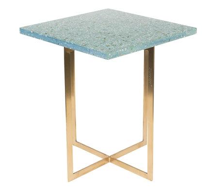 Zuiver Table d'appoint Luigi Square terrazo vert vert 40x40x45 cm
