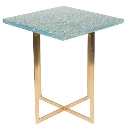 Zuiver Beistelltisch Luigi Square grün Terrazo Eisen 40x40x45 cm