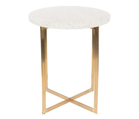 Zuiver Tavolino Luigi Round bianco ferro Terrazo Ø40x45cm