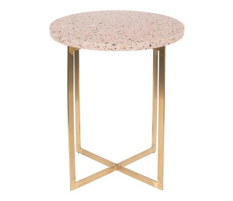 Zuiver Sidebord Luigi Round pink Terrazo jern Ø40x45cm