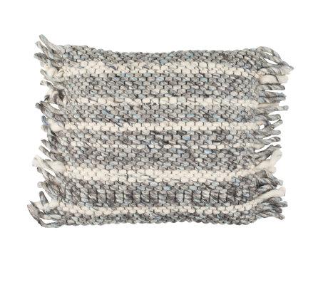 Zuiver Pude flæser gråblå bomuld 45x45cm