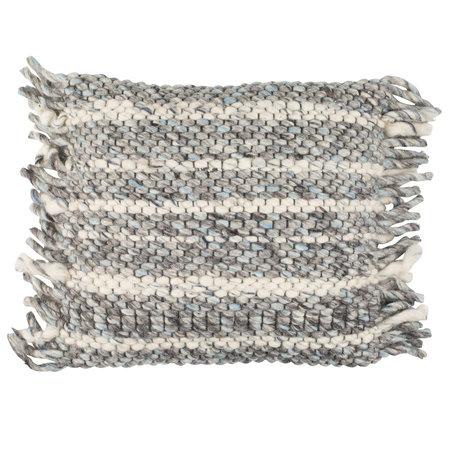 Zuiver Almohada volantes algodón gris azul 45x45cm